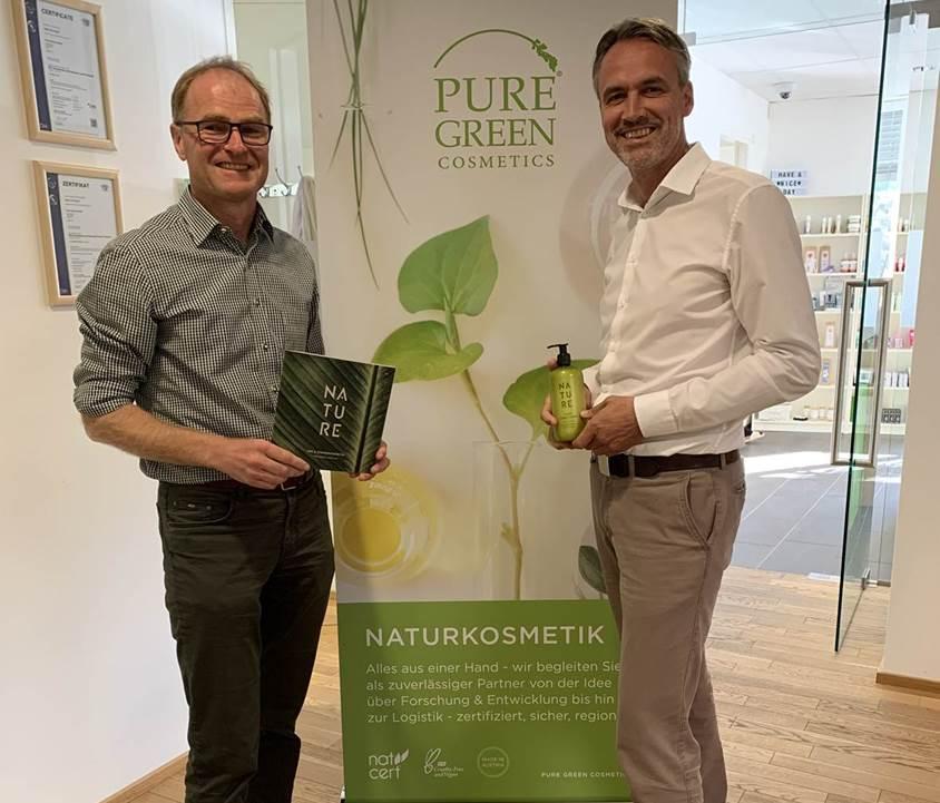 Gordon Koell Köll und Werner Murr von Pure Green Cosmetics