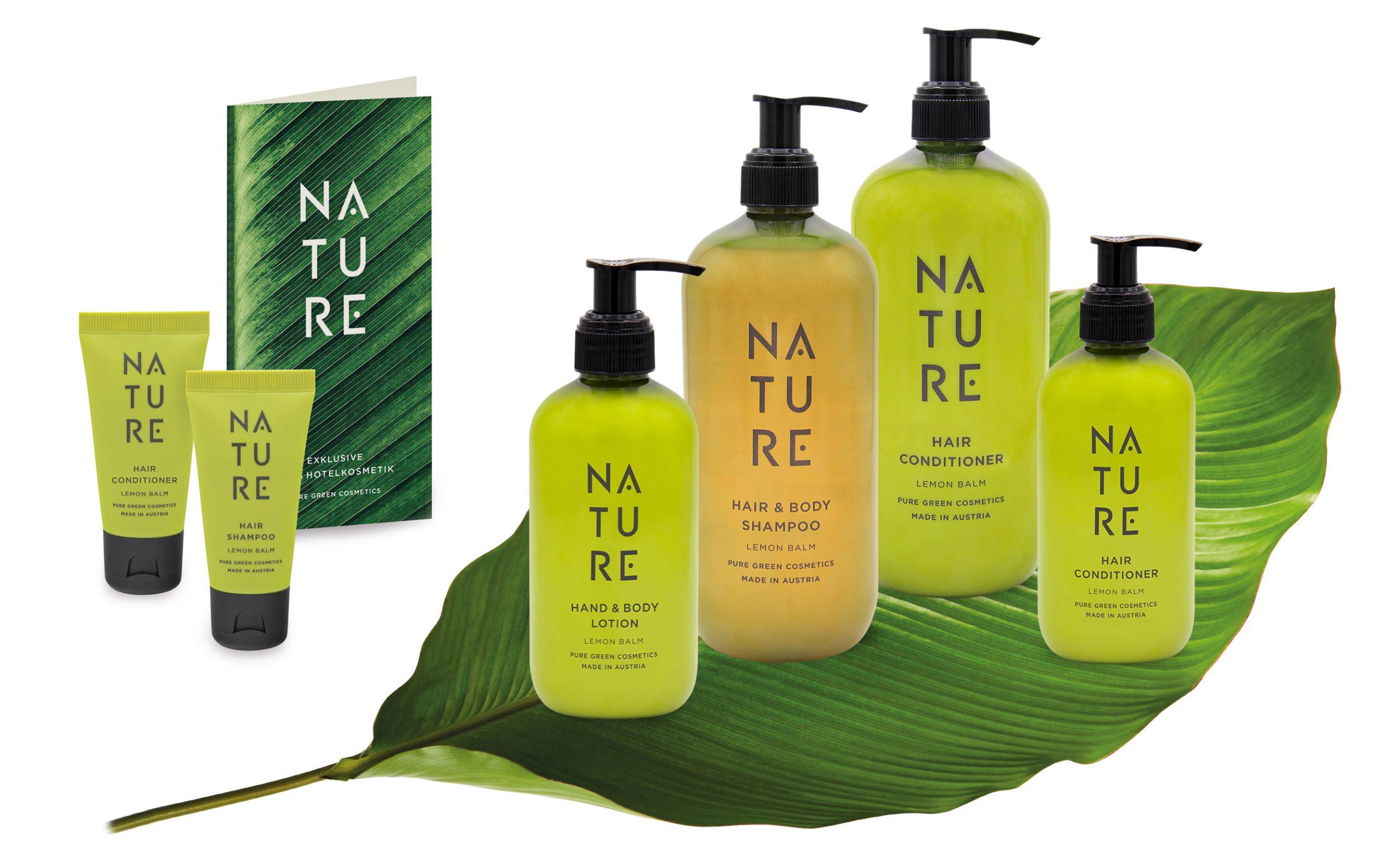 Hotelkosmetik nachfüllbar Bio NATURE Pure Green